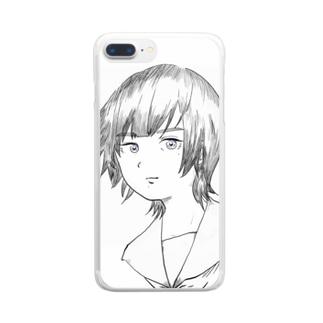 羨ましい子 Clear smartphone cases