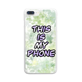 This is my phone. Clear smartphone cases