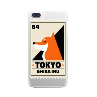 柴犬 東京 Clear smartphone cases