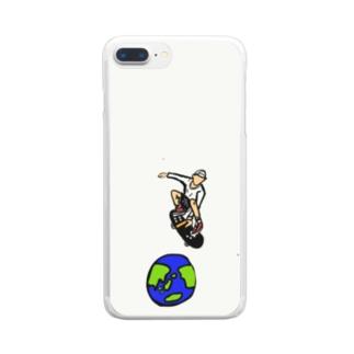 スケボー Clear smartphone cases