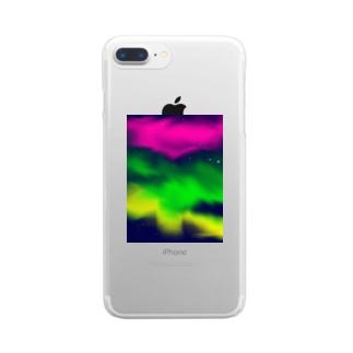 オーロラ Clear smartphone cases