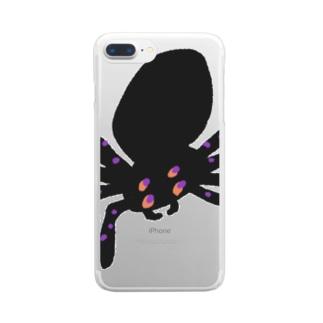 mya-mya=MIYA JUNKO's shop 02のmr. spider Clear Smartphone Case