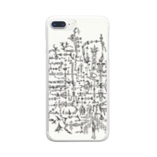 電子設計図 Clear smartphone cases
