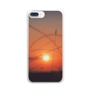 夜明け8 Clear smartphone cases