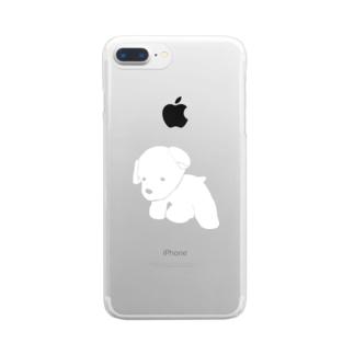 いぬのぬい Clear smartphone cases