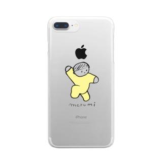 まるみくん Clear smartphone cases