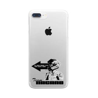 前向き櫻山 Clear smartphone cases