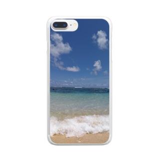 波ざざん Clear smartphone cases
