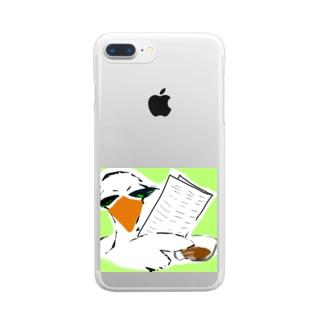 情報屋 トリさん Clear smartphone cases