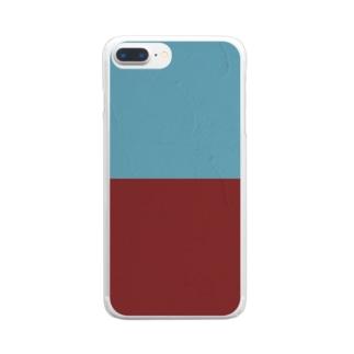 あかとあおのかべ。 Clear smartphone cases