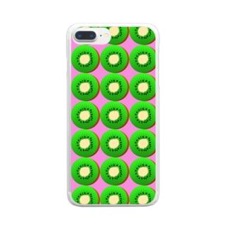 キウイ Clear smartphone cases