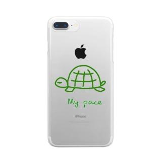 亀ちゃん Clear smartphone cases