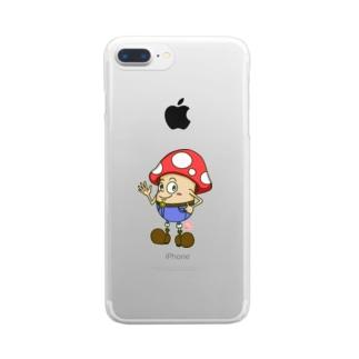 キノコっち_ハロー Clear smartphone cases