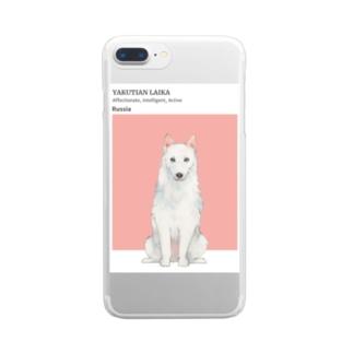 犬 ヤクーチアン ライカ  Clear smartphone cases