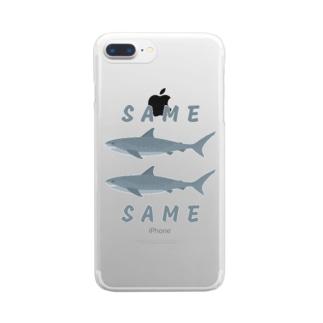 同じ鮫 (SAME SAME) Clear smartphone cases