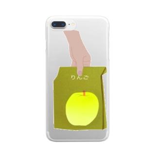 今日のリンゴは黄色です Clear smartphone cases