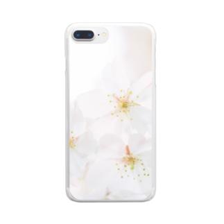 「桜」 FUJIFILM PRO400H Clear smartphone cases