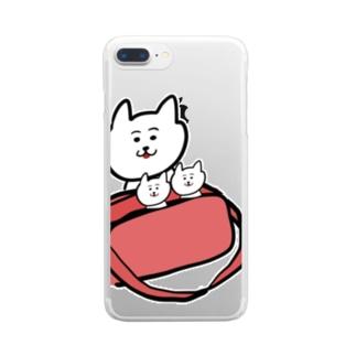 通園バッグでかくれんぼ Clear smartphone cases