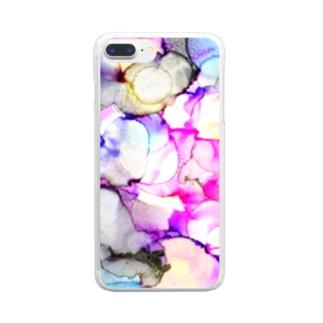 胡蝶の夢 Clear smartphone cases