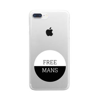 ふりーまんず Clear smartphone cases