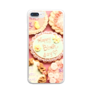 many birthday cookies Clear smartphone cases