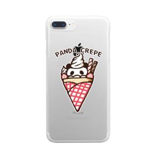 パンダクレープ Clear smartphone cases