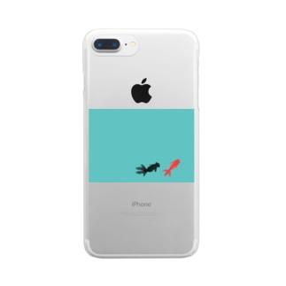 水面下の金魚 Clear smartphone cases