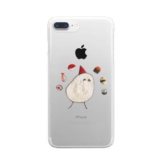 かもめ と おすし Clear smartphone cases
