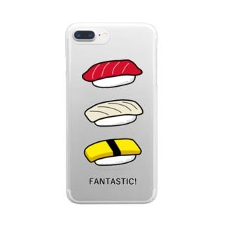 寿司 Clear smartphone cases