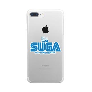 菅首相 内閣総理大臣 SUGA Clear smartphone cases