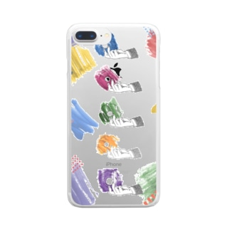 colorful donuts Clear smartphone cases