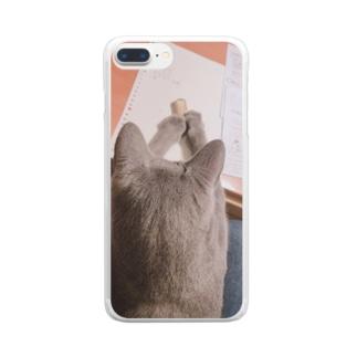 かん Clear smartphone cases