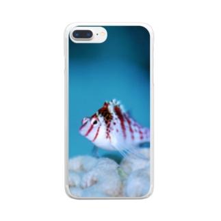 ちっちゃい魚 Clear smartphone cases