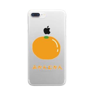 みかんむかん Clear smartphone cases