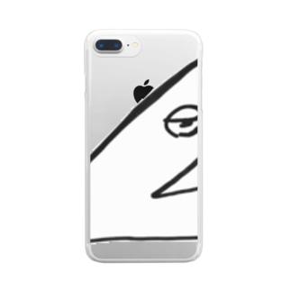 やるせくん Clear smartphone cases