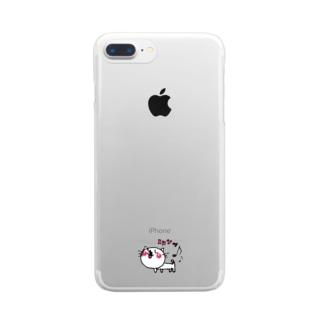 matsukingのルンっルンっネコちゃん Clear smartphone cases