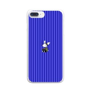 [Rabit]スマホケース(青)[複数機種] Clear Smartphone Case