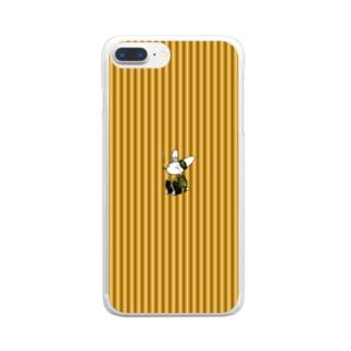 [Rabit]スマホケース(黄)[複数機種] Clear smartphone cases