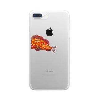 サカナ さかな がらかぶ かさご Clear smartphone cases