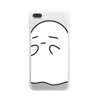 こわがり Clear smartphone cases
