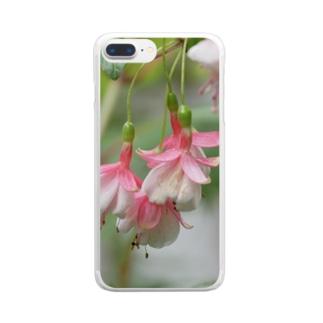 """花染めの箱庭のフクシア""""ペパーミント・キャンディ"""" Clear smartphone cases"""