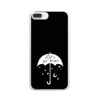 帰ろうか モノクロ2 Clear smartphone cases