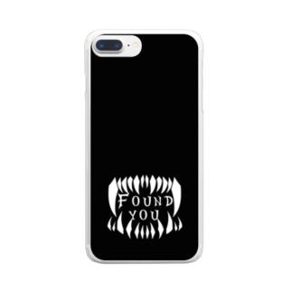 見つけた モノクロ2 Clear smartphone cases