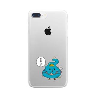 ウンT星人 Clear smartphone cases