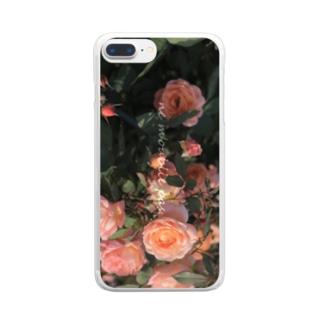 nostalgic rose. Clear smartphone cases