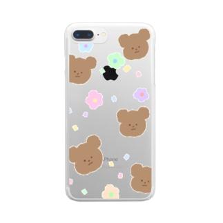 くまとおはな Clear smartphone cases