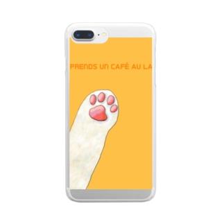 JE PRENDS UN CAFE AU LAIT Clear smartphone cases