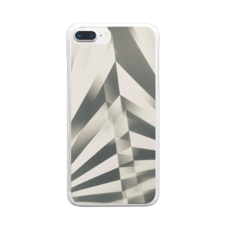 ストライプ Clear smartphone cases
