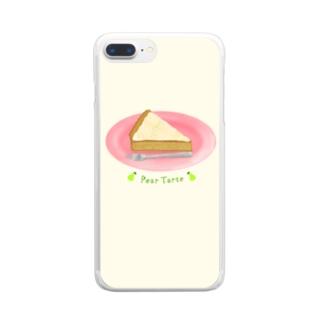 洋梨のタルトを食べよう Clear smartphone cases