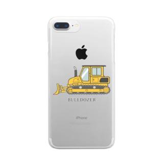 ブルドーザー Clear smartphone cases